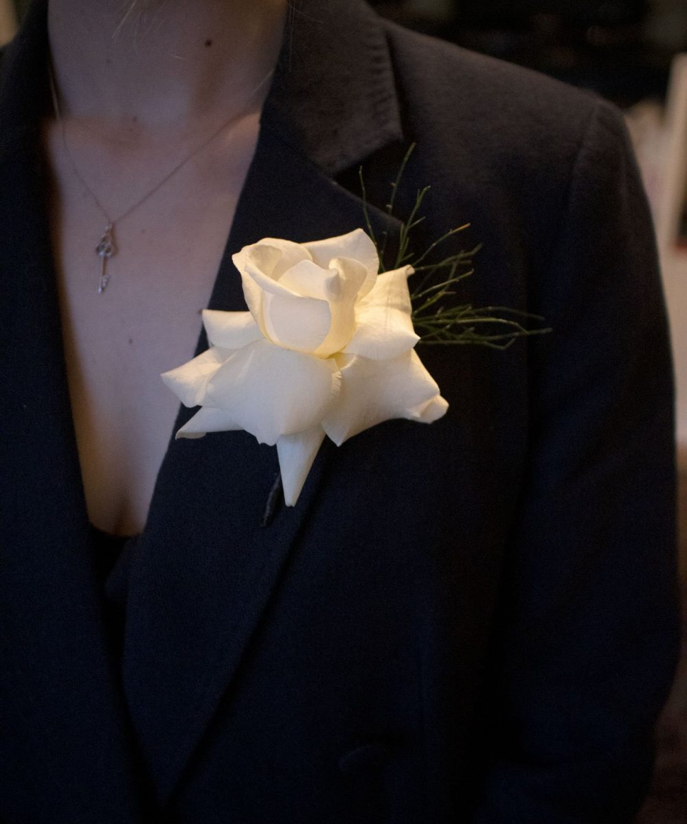 Inverted Rose Buttonhole