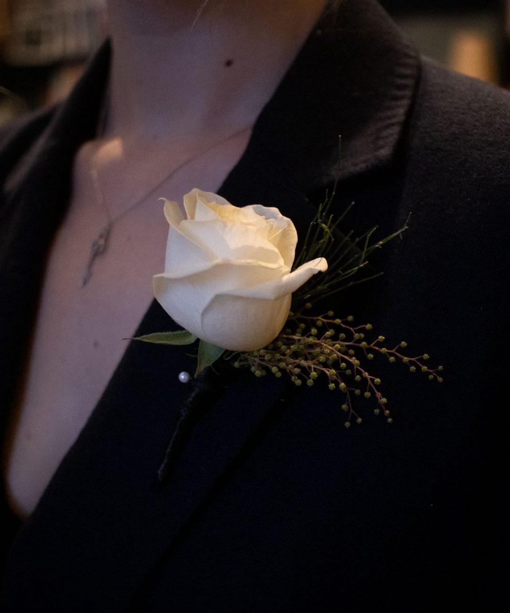 Classic Rose Buttonhole