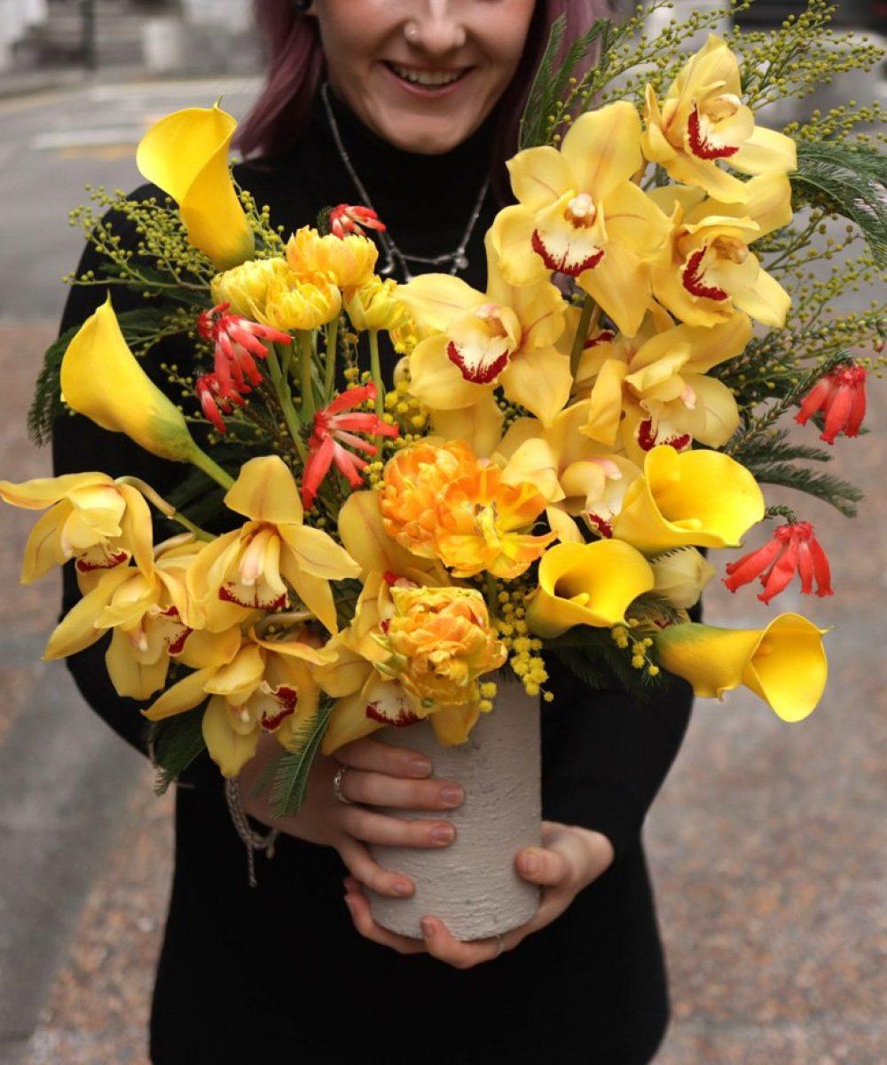 Medium Vivid Vase Arrangement